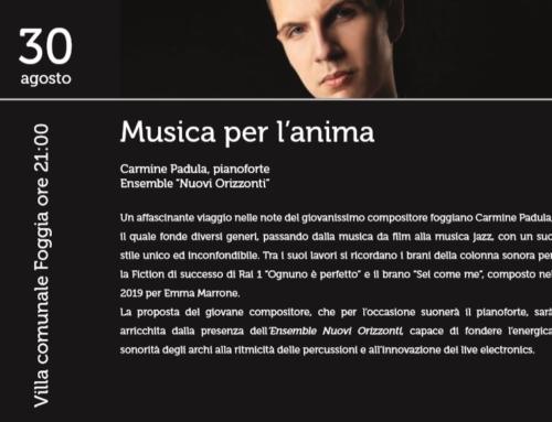 Il Festival d'arte Apuliae si conclude con la musica di Carmine Padula