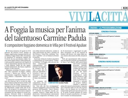 Musica per l'animaLa Gazzetta del Mezzogiorno, 28 agosto
