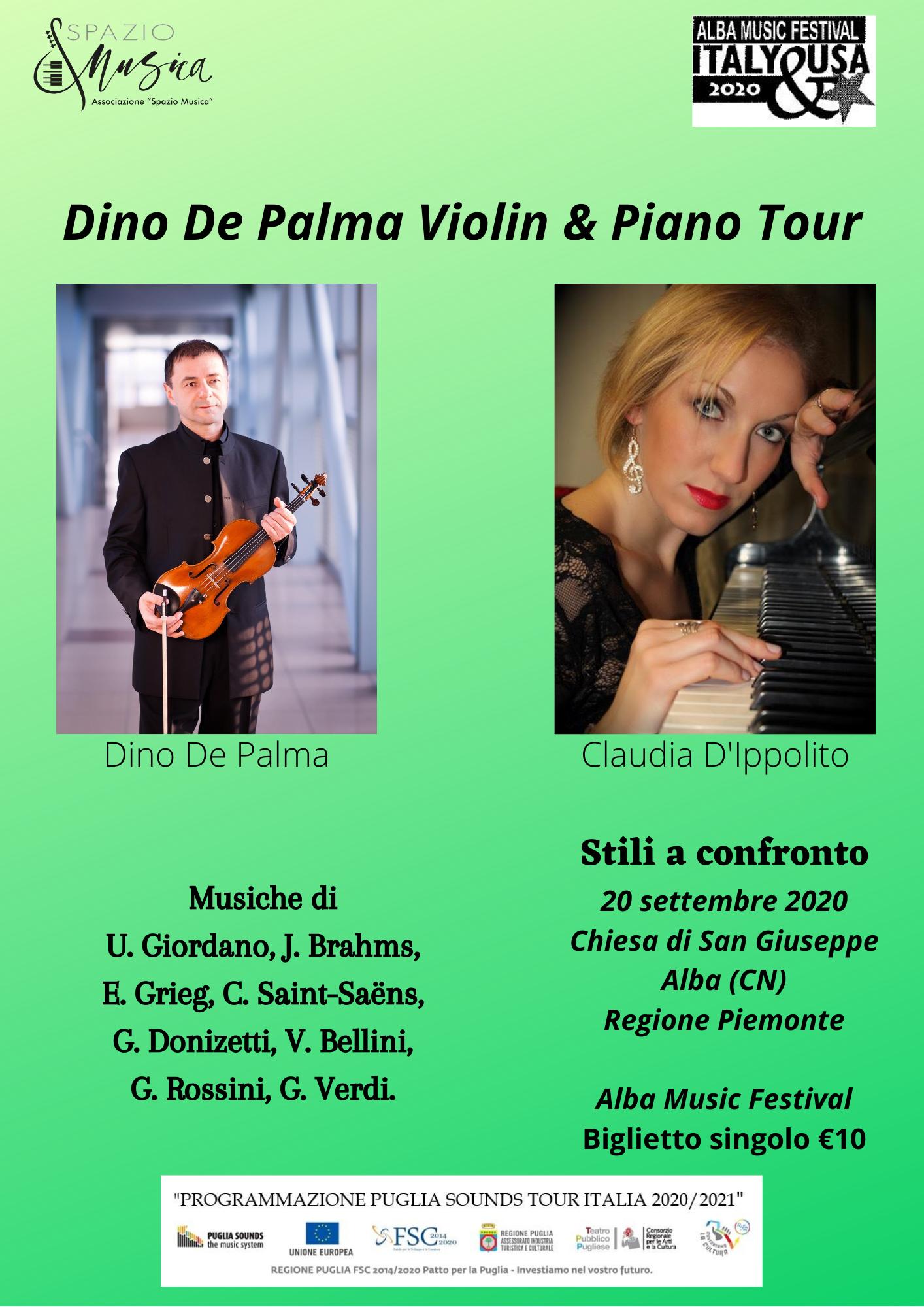 Dino De Palma Violin & Piano Tour20 settembre – Alba (CN)